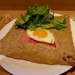 そばカフェ ニノ - 玉子・ハム・チーズのコンプレット