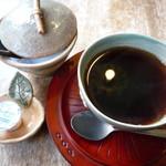 カフェ ポテリ - セットのホットコーヒー