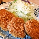 とんかつかつ喜 - 料理写真:ヒレカツのアップ