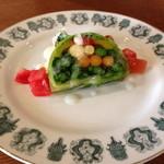 ラキュイエール - 2013年2月22日のランチの前菜「野菜のテリーヌ仕立て」