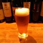 キッチン櫻庭 - 生ビール(500円)