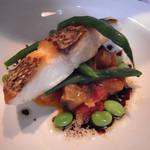 メルカート - 鯛の夏野菜添えバルサミコソース