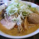 麺屋 一番星 - 【みそラーメン+味付たまご…750+100円】2013/2