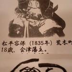 鈴新 - 松平容保が四谷荒木町生まれだったとは