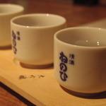 17476922 - 本醸造利き酒三種(本醸造・吟醸・大吟)¥730-