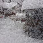 17477908 - 外の回廊には羽毛のような氷がびっしり!