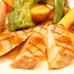 コーダリー - 十勝野ポークロースのグリエ 玉葱のエチュベ マスタード風味(お連れオーダー)