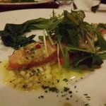 17482797 - サーモングリエのサラダ仕立て(Bコース前菜)