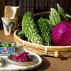 旬家ばんちゃん - 料理写真:白保産ゴーヤと紫キャベツ。今週からの前菜に登場です(^^)♪