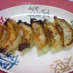 1749740 - 海鮮トリオ餃子(左から、えび、たこ、しそ各2個)