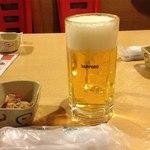 居酒屋竹子 - 生ビール(180円)