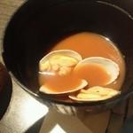 とんかつ食房 厚○ - あさりの味噌汁