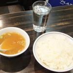 福来軒 - スープ、ご飯、お水