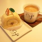 ビスキュイ - 2013.2 クリームチーズのロールケーキ(300円)、ブレンドコーヒー(300円)