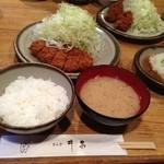 銀座 井泉 - おろしポン酢ロースかつ定食(1,050円)
