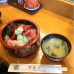 甲寿司 - まぐろぶつ丼定食