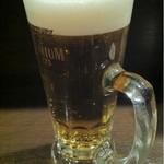 立呑み厨房 いち - 2013.2.7 生ビール380円。プレミアムモルツはやっぱり美味しい♪