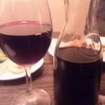 17504759 - ハウスワイン(赤)デキャンタ 1,300円 2本も飲んでしまった