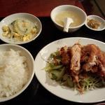 香得莱 - 日替わりランチ 鶏肉の油淋鶏ソース和え