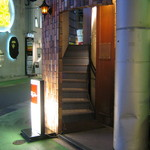 Bar Palme dor - 階段を2階へあがります。