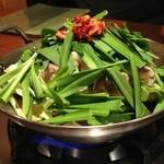 17508905 - 炙りもつ鍋 しょうゆ