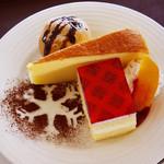 トウキョウカフェ 202 - ケーキセット 1,000円 盛り付けも可愛くて嬉しくなっちゃいましたヾ(*´∀`*)ノ