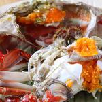 桃の花 - 子持ち渡り蟹
