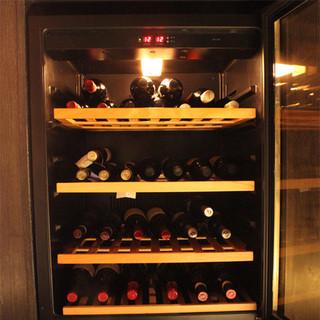 ワインセラーも設置しております。