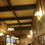 17516450 - 洋食屋さん風の内装だね。