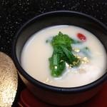 粋松亭 - 茶碗蒸し クリームソースがけ