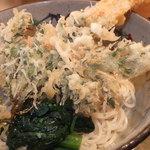 すずしろ - 冷やし天ぷら蕎麦 1000円 天ぷらのアップ 【 2013年2月 】