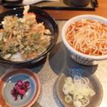 すずしろ - 天丼セット(大海老・春菊) 950円 【 2013年2月 】