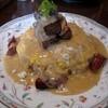 ムグニ - 料理写真:ベーコンとソーセージ入りゴルゴンゾーラチーズソースのオムライス