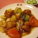 きりん - セットの酢豚