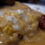 ムグニ - ゴルゴンゾーラチーズソースのオムライス アップ