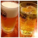17520008 - 生ビールと緑茶ハイ