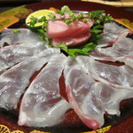 舞桜 - クエの刺身と大間のマグロ
