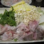 舞桜 - クエシャブとクエ鍋