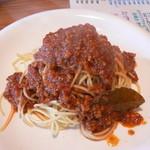 二階で~す - 料理写真:トマト風ミートスパゲティー(850円)