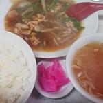 生駒軒 - ピーマン肉炒め定食¥700