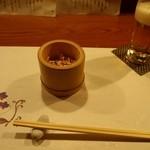 涿屋 - スタートは竹筒に入ったサラダ
