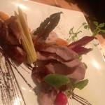大名ワインバルAce - 3000円コースのお肉料理。値段の割に本格的です!