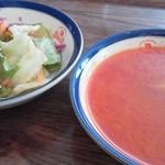 17534699 - セットのサラダ&スープ