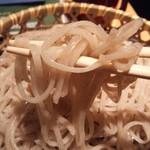 17535054 - 会津そばの天ざるそば¥1100の二八蕎麦(H25.2.27撮影)