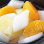 南風 - 杏仁豆腐・・・フルーツの入った杏仁豆腐、お口サッパリ!