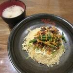 MADE IN JAPAN かにチャーハンの店 - ・限定「揚げ牛肉のコク旨チャーハン(\680)」
