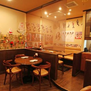 女子会に快適♥まるで韓国本場で食べているような感じ!