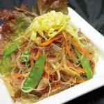 五湯道 - 韓国家庭料理チャプチェ。春雨と野菜の和え物です。