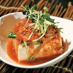 五湯道 - そぼろとキムチの辛味豆腐。まずはこれ!