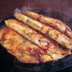 五湯道 - ふわふわの海鮮パジョン。熱々の鉄板でお持ちします。